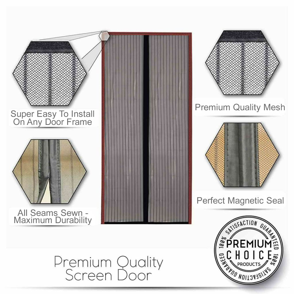 magnetic insect screen door